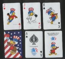 Playing cards Sam the Olympic eagle 1984